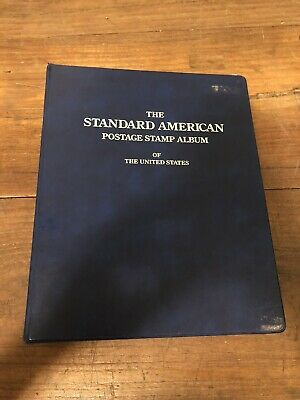 Standard American Stamp Album with Random Pages Of Stamps SEE PHOTOS!!!