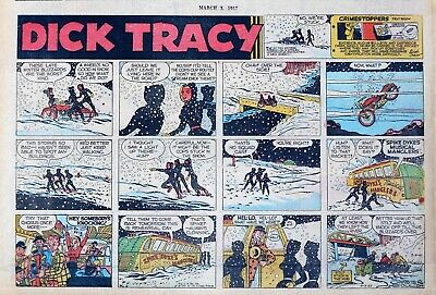 Dick Tracy by Chester Gould - large half-page Sunday color comic - March 3, 1957
