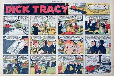 Dick Tracy by Chester Gould - large half-page Sunday color comic, March 10, 1957