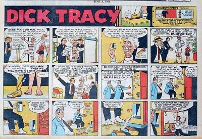 Dick Tracy by Chester Gould - half-page full color Sunday comic - June 2, 1957