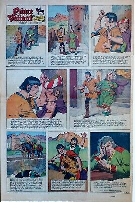 Prince Valiant by Hal Foster - large full page color Sunday comic March 8, 1959