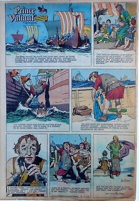 Prince Valiant by Hal Foster - large full page color Sunday comic Dec. 18, 1955