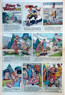 Prince Valiant by Hal Foster - large full page color Sunday comic April 5, 1959