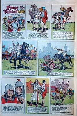 Prince Valiant by Hal Foster - large full page color Sunday comic April 26, 1959