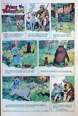 Prince Valiant by Hal Foster - large full page color Sunday comic Dec. 29, 1957