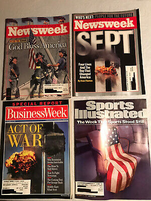 Lot Of 4 Sept. 2001 Magazines Including Sports Illustrated