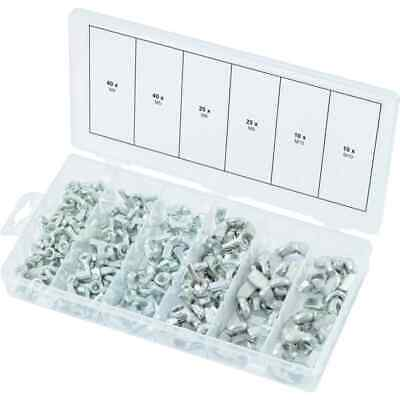 KS Tools 150 Piece Wing Nuts Assortment M4-M10 Butterfly Screw Fastener Steel