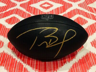 Tom Brady SIGNED New England Patriots NFL Super Bowl Champion Wilson Football