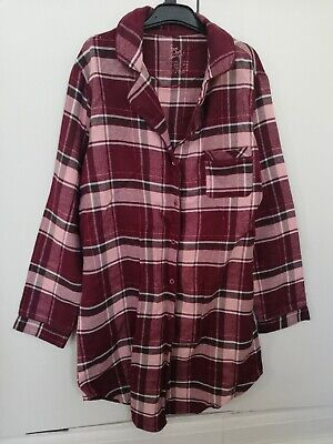 Primark Love to Lounge Ladies Nightwear Night Shirt 100% Cotton Small UK 10/12
