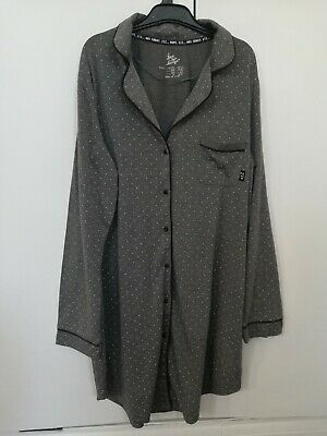Primark Love to Lounge Ladies Nightwear Night Shirt Grey Small UK 10/12