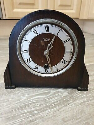 Vintage Enfield Mantel Clock For Spares or Repairs