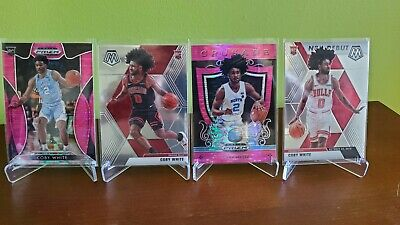 2019-2020 🔴 Panini Prizm ➕ Mosaic Coby White Rc Rookie Card Lot Of 4️⃣