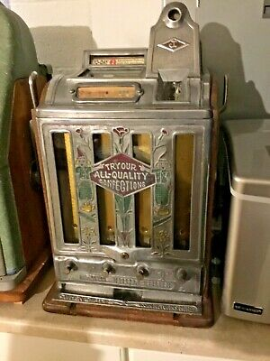 Vtg JENNINGS Slot Machine TO-DAY vender coin op vending casino antique