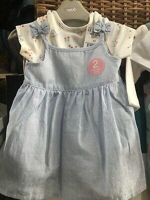 NEXT Baby Girl Size 3-6 Months 2 Piece Summer Dress Set BNWT