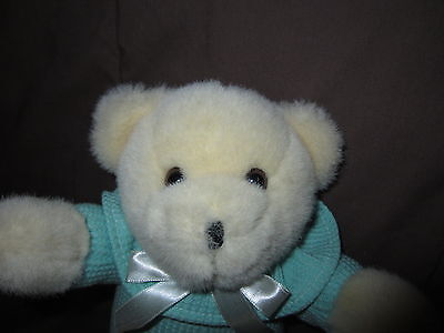 """Discovery Toys BABY BEAR Plush Rattle THERMAL PAJAMAS 12"""" TALL"""