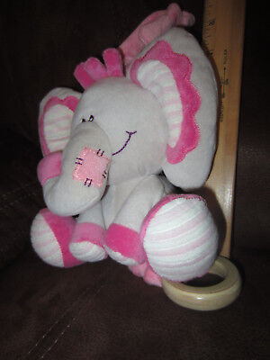 BABY PINK ELEPHANT Musical Plush Crib Toy TWINKLE TWINKLE LITTLE STAR STEPHEN
