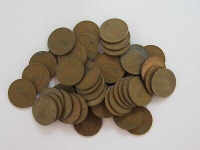 Lot of 50 Old Ireland 1971 1 Penny Coins - Circulated