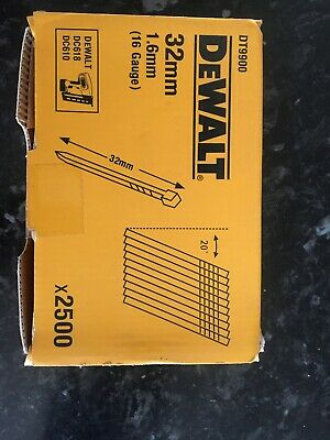 DEWALT DNBA1632GZ 16g 32mm Angled Brad Nails (2500)