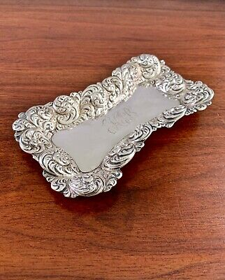 Simons Bros. Sterling Silver Art Nouveau Pin / Jewelry Tray