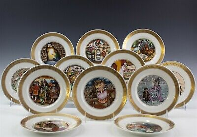 12 Royal Copenhagen Hans Christian Andersen Decorative Plates Collection RBS NR
