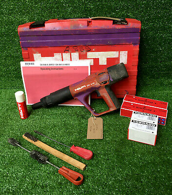 HILTI DX A41 F8 Nail Gun  Cartridge Hammer C/W 200 Nails & Cartridges  REF 8174A