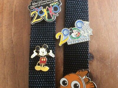 Disney Collector Pins And Strap
