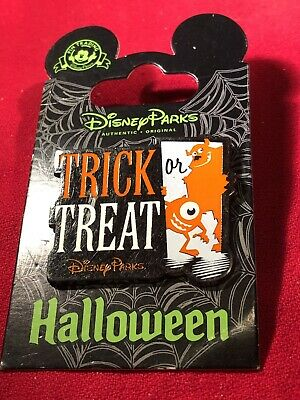 1 Disney Pin  Mike & Sully Trick or Treat  New on Card As Seen lot Q