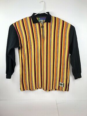 Vtg 90s Cross Colours Multi-Coloured Long Sleeve Zip Up Front. One Size Fits All