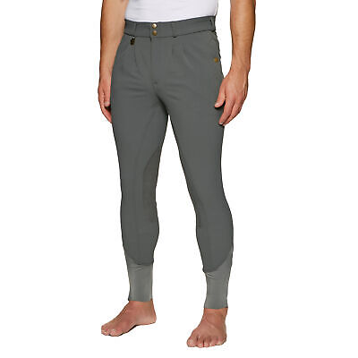 Derby House Elite Mens Pants Riding Breeches - Pewter All Sizes