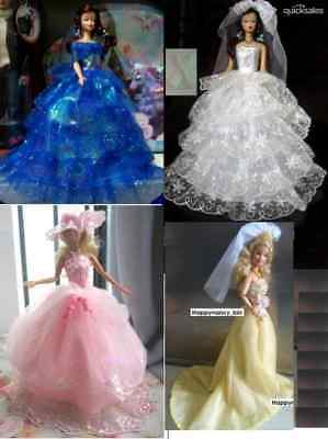 **Wholesale-20 Fashion Barbie Doll Sized Clothes/Popular Dresses@@Best Girl Gift