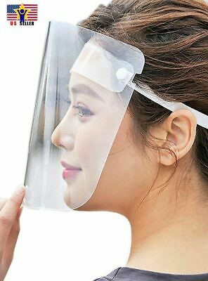 Anti Splash Head Band Safety Mask Protective Full Face Shield Cover Transparent