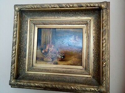 Victorian frame (with gold??) with painting