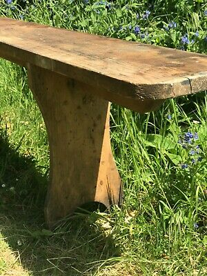 Pair of Antique French vineyard benches 310cm long