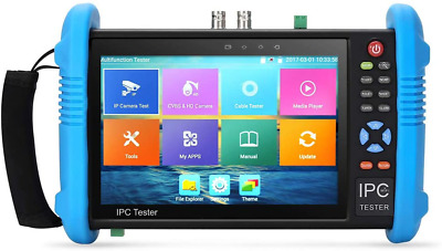 Koolertron Upgraded 7 inch IPS Touch Screen H.265 4K IPC-9800 Plus IP Camera Tes