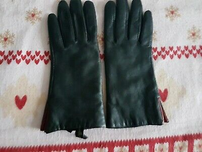 Gants Willi Smith (marque Will Smith) Cuir/doublure Cachemire Taille S NEUF