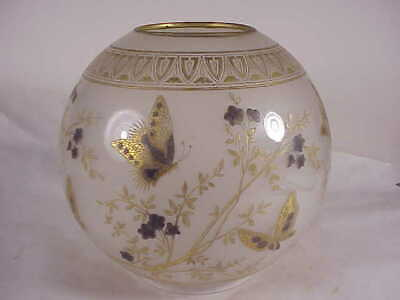 Vintage Lovely  Lamp Globe With Butterflies