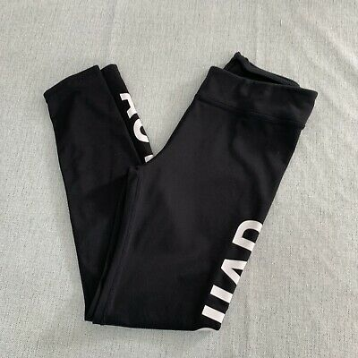 H&M Girls Black Active Sports Leggings - Age 9-10 Years - Good Condition
