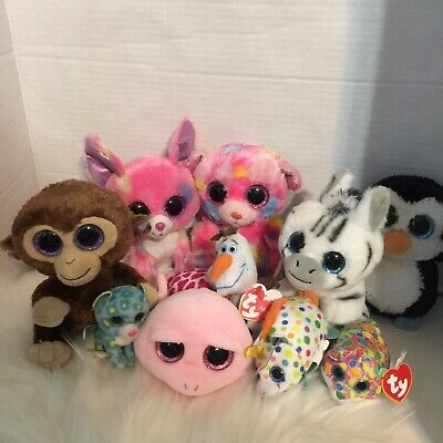 Lot Of 6 Ty Beanie Boos With Some Other Bonus Ty