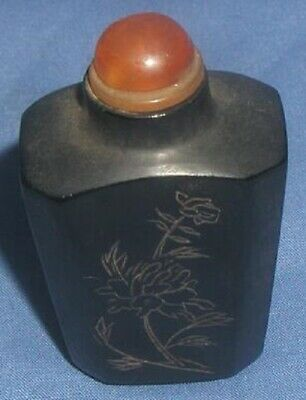 ANTIQUE 19Thc. CHINESE SNUFF BOTTLE WITH STOPPER