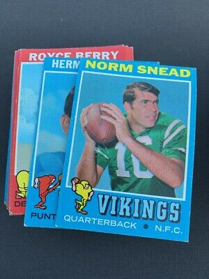1971 Topps Football Pick a Card Complete Your Set G-VG