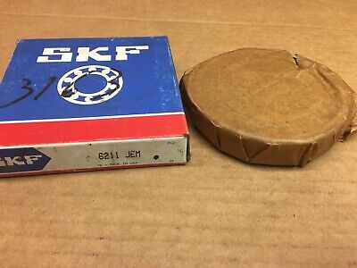 SKF 6211JEM BEARING OPEN 6211C3 6211-C3 55x100x21 mm (MADE IN USA)