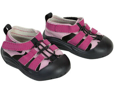 """Pink & Black Hiking Sandals For 18"""" American Girl Doll Clothes Shoes Accessory"""