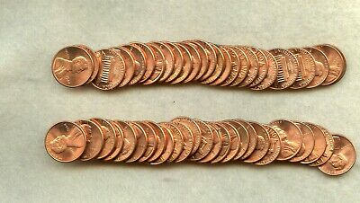 1984 ~ Lincoln Memorial Cent Roll ~ Bu Red ~ 50 Coins