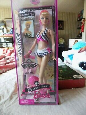 "Bathing Suit BARBIE Doll ""Then and Now"" 50th ANNIVERSARY 2009"
