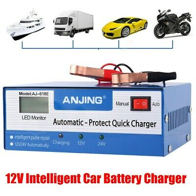 12V 10A Full Automatic Smart Car Battery Charger Intelligent Electronic Starter