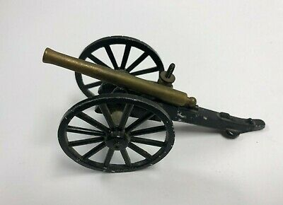 "vintage Cannon Metal & Brass Toy 5"" Cannon (made in Japan)"