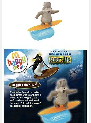 2007 Happy Meal Animation Surf's Up Reggie spin'n fun New Sealed K3