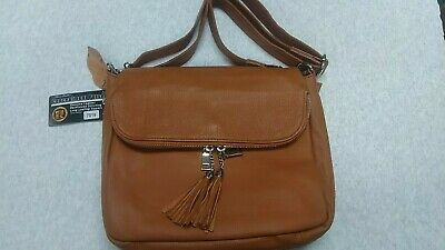 Roma Leather shoulder bag with concealment holster / 49123