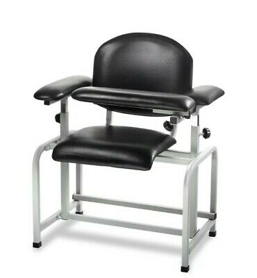 """AdirMed Padded Phlebotomy Blood Drawing Chair 17.3"""" , Black , Clinical *NEW*"""