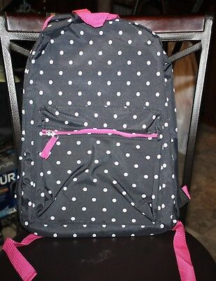 Poka dotted Backpack Back-2-School Book Bag Kids NEW! Free Notebook & Crayons!